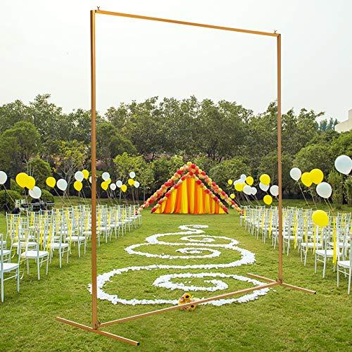 Kaibrite 1.5M Blumen Dekorativ Hochzeitsbogen Requisiten Hintergrund DIY Metall Gold Ballon Bogen Bühne Hintergrund Regal Hochzeit Blume Weihnachten Dekoration, Golden