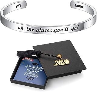 WUSUANED Cuff Bracelet Stacking Bracelet Quote Bracelet Gift for Her Graduation Inspiration Bracelet