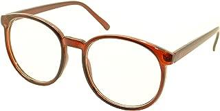 Retro Vintage Inspired Classic Nerd Round Clear Lens Glasses Eyewear