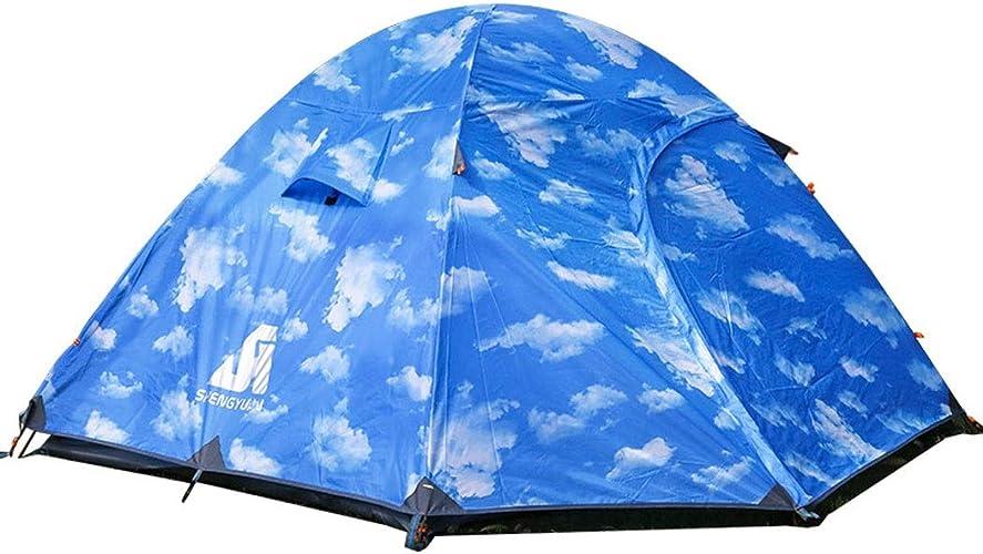 Fulitanghuang Tente de Camping en Plein air en Aluminium Pole Light Camping Tente Double Besoin de Construire étanche Pique-Nique Ultra léger Alpinisme Coupe-Vent