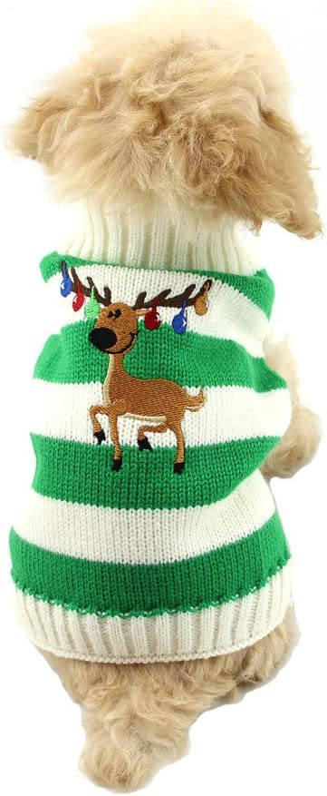 NACOCO Dog Sweater Pet Christmas Elk Credence Sweaters Re Special price Bells Halloween