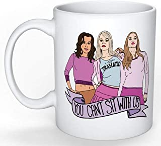 SkyLine902 - Mean Girls Mug (Regina George Tina Fey Fetch, She doesn't even go here, You can't sit with us, On Wednesdays We Wear Pink, Grool), 11oz Ceramic Coffee Novelty Mug/Cup, Gift-wrap Available