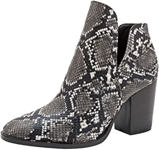 New Boots for Women ,Pointed High-Heeled Fashion Snake Pattern Shoes Boots Large Size Booties Women Ankle Heels