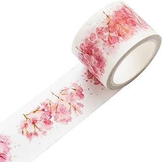 Yaonow Washi Feuille de rose Rouleaux de ruban adh/ésif/ /d/écoratifs rubans de masquage Id/éal pour DIY papier Washi bricolage et les travaux manuels projets; lOrdre scrapbooking, /Extra Long 5/m/