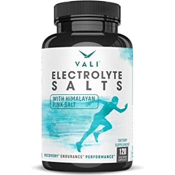 Electrolyte Salts Rapid Oral Rehydration Replacement Pills. Hydration Recovery Powder Supplement for Fast Dehydration Relief. Active Blend of Salt Minerals for Fluid Health, Stamina, Keto 120 Capsules