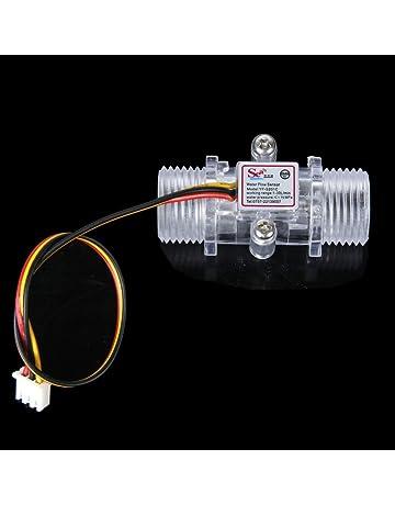 HUABAN Water Flow Sensor 0.3-6L//min Switch Meter Flowmeter Counter Sensor Water Control 1//4 1.75MPa DIY Kit