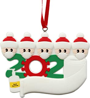 Best Yuelife Christmas Tree Ornaments 2020 Party Decorations with Ribbon Creative Gift Product for 1-7 Family Members and Friends(White, 5) Review