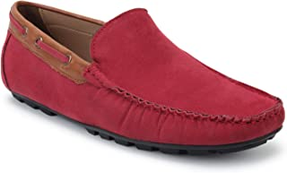 SCENTRA Bossman Suede Loafer Red