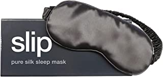 Slip Pure Silk Sleep Mask, Charcoal - 100% Pure Mulberry Silk 22 Momme Eye Mask with Elastic Band from Slip Pure Silk Pillowcase