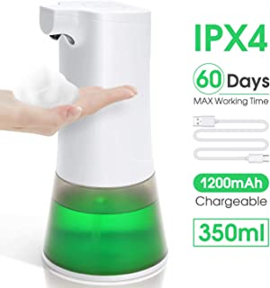 Extreme Life Automatic Soap Dispenser, Touchless Foaming Soap Dispenser, USB Rechargeable Wall Mount Hand Soap Dispensing Adjustable Volumes for Bathroom Kitchen
