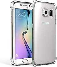 Galaxy S7 Edge Case Crystal Clear Shockproof Bumper Protective Cell Phone Case for Samsung Galaxy S7 Edge Transparent Pure TPU Back Covers for Men Women Boys Girls Flexible Slime Fit Rubber Silicone