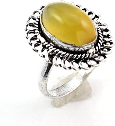 Aqua Chalcedony Fashion Jewelry Silver Plated Ring S28228 Rings
