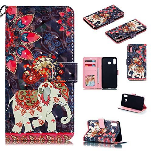 Hongjian Hulle Fur Samsung Galaxy A6s G6200 Case, PU Leather flip Case Cover 4