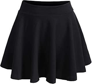 Romwe Women's Plus Size Stretchy Elastic Waist Flared Casual Mini Skater Skirt
