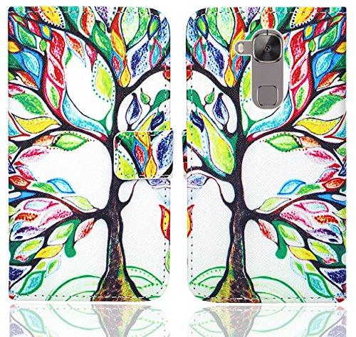 Huawei G8 / GX8 Handy Tasche, FoneExpert® Wallet Hülle Flip Cover Hüllen Etui Ledertasche Lederhülle Premium Schutzhülle für Huawei G8 / GX8 (Pattern 5)
