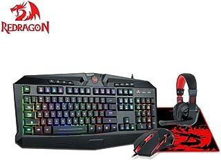 rotragon WAVEIMPACT 4in1 Gaming Combo Kit S103 S103 S103 Gaming Combo hawthorn toetsenbord QWERTY  Maus M705 Pegasus  Garuda Gaming Headset   muismat Archelon M, 4 in 1 (toetsenbord, muis, Headset, muismat) B06ZYMQYCW  Niedrige Kosten 9e5f04