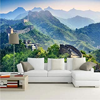 Pbldb 8D/5D Murals Wallpaper Chinese Style Great Wall Natural Scenery 3D Wall Photo Mural Wall Paper for Living Room-200X140Cm