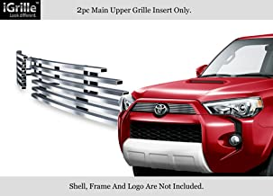 APS Compatible with 2014-2020 Toyota 4Runner Upper Stainless Steel Billet Grille Grill Inserts T65977C