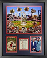 """Legends Never Die St. Louis Cardinals - World Series Rings and Championships Framed Photo Collage, 16"""" x 20"""""""