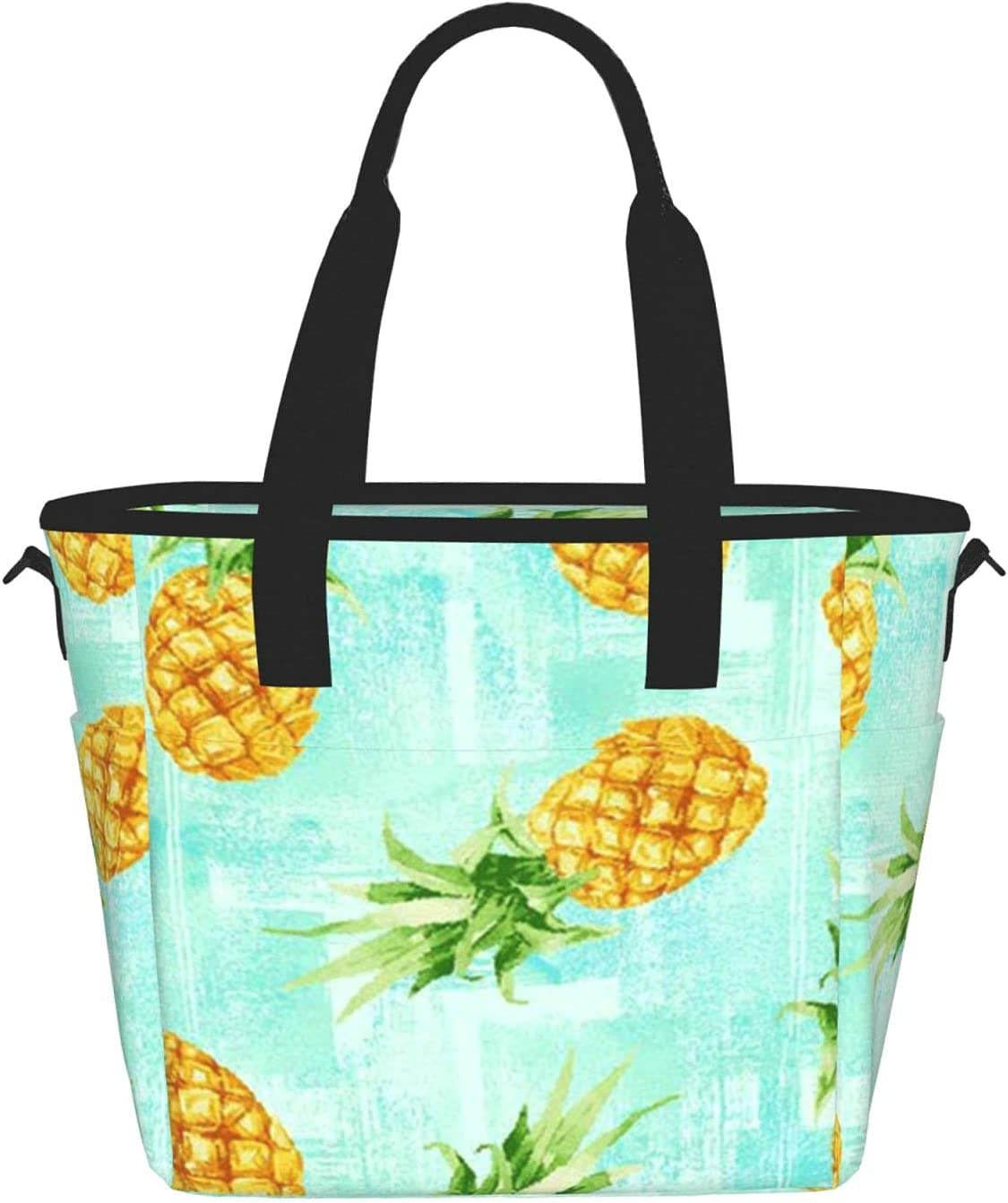 Fashion Pineappleprinting Women'S Lunch Max 68% OFF Mea Max 44% OFF Portable Bag
