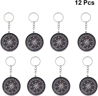 Toyvian 12 Pcs Compass Keychain Key Chain Pirate Compass Keychain Key Ring Bag Pendant Stylish Unique Children Gifts