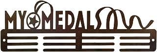 Medal Holder Display Hanger Rack Medals Brown Medal Holder Wall Mount Running Medal Frame Holds Upto 24-30 Medals by Sehaz...