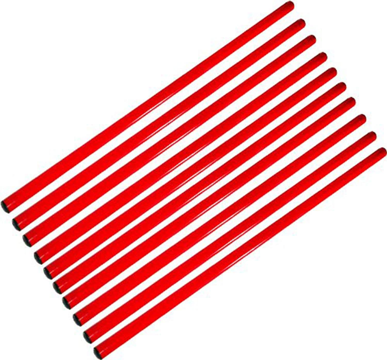 Boje Sport Set of 10 poles 160 cm, red