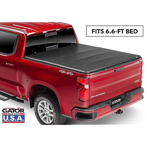 "Gator ETX Soft Tri-Fold Truck Bed Tonneau Cover | 59105 | Fits 2004-2006, 2007 Classic Chevy/GMC Silverado/Sierra 6'6"" Bed | Made in the USA"