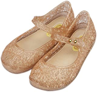 iFANS Girls Princess Jelly Sandals Mary Jane Bird Nest Layered Lines Flat