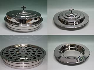 Silvertone-Stainless Steel Communion Tray Set and Bread Tray Set