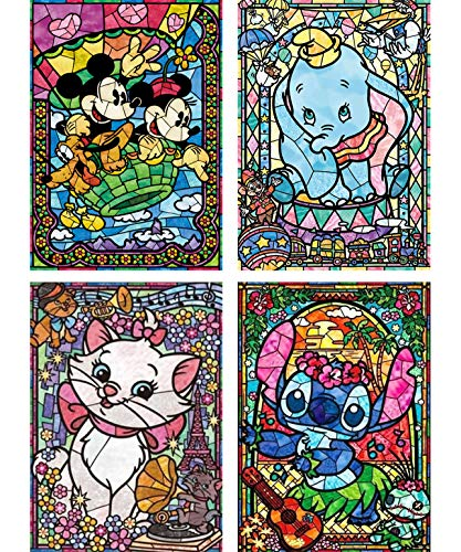 Palodio 5D Diamond Painting Kits Mouse Elephant Cat Pet, Paint with Diamonds Art Cartoon Paint by Numbers Full Round Drill Cross Stitch Crystal Rhinestone Home Wall Decoration 12x16 inch (4 Pack)