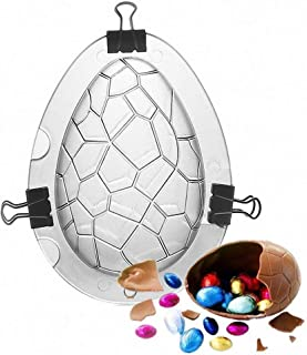 3D Easter Egg Baking Mold - Egg Candy Silicone Mold for Mousse Cake Peanut Butter Chocolate Candy Jello Pastry (10.5x7x7cm, Multicolor)