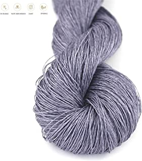Lotus Yarns 100% Natural Linen Lace Weight Hand Knitting Crochet Yarn 50g/Hank for Summer Fashion Garments Baby Clothes Soft and Cool (14)