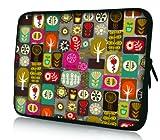 Luxburg Design Funda Blanda Bolso Sleeve para Ordenador Portátil/MacBook de 15,6 pulgadas, motivo: Patchwork