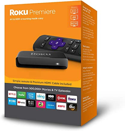 Roku Premiere | HD/4K/HDR Streaming Media Player with...