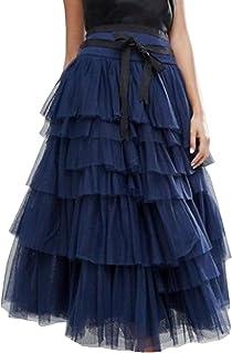 4e1cc450f1607 Beauty Go Femme A-Ligne Jupe Princesse Long Jupe Tutu Tulle Petticoat Jupon  Été