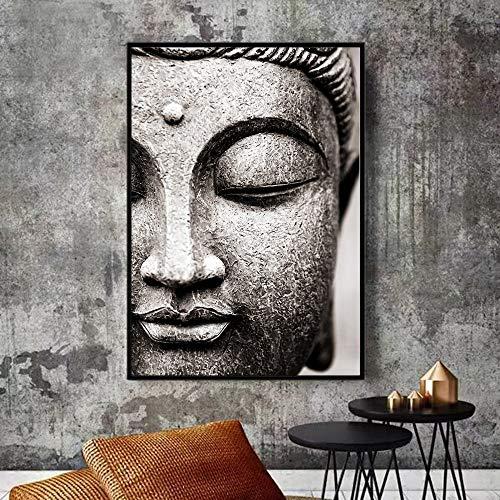 Wandkunst Leinwandbilder Abstrakte Buddha-Plakate und Drucke Buddhismus dekorative Wandbilder für Hauptwanddekor A 40x60cm