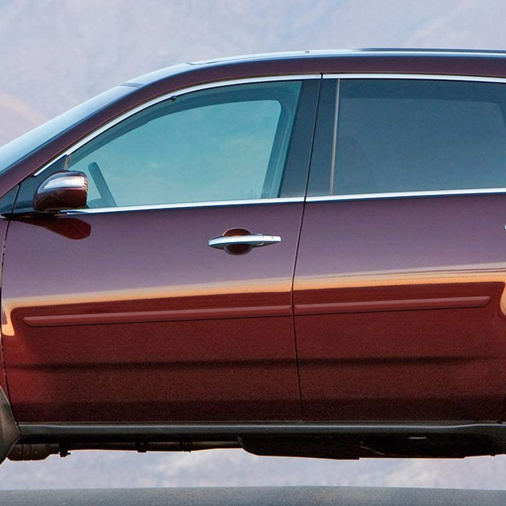 Dawn Enterprises FE-MDX08 Finished End Body Side Molding Compatible with Acura MDX G525M Aberdeen Green Metallic