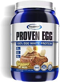 Gaspari Nutrition Proven Egg | 100% Egg White Protein | 25g Protein Powder | Dairy Free (Banana Nut Bread)