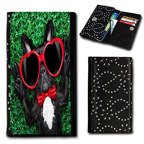 Strass Book Style Flip Handy Tasche Hülle Schutz Hülle Foto Schale Motiv Etui für Mobistel Cynus E4 - Flip SU3 Design10