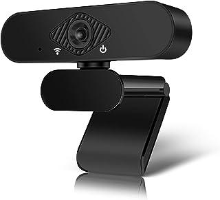 KEPEAK Webcam USB, 1080p HD Portátil/PC Cámara de Video, Cámara Web de Enfoque Automático con Micrófono para Curso en Línea Conferencia Transmisión en Vivo