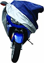 Pilot Automotive CC-6331 Blue/Silver Motorcycle Cover, Small