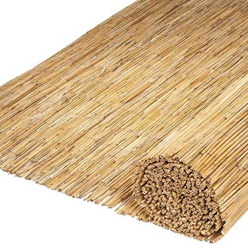 Nature 2X Frangivento Da Giardino Con Filo Metallico Opacità 70% Fendivista Protezione UV Paravento In Canna Di Bambù 500X150 Cm Naturale