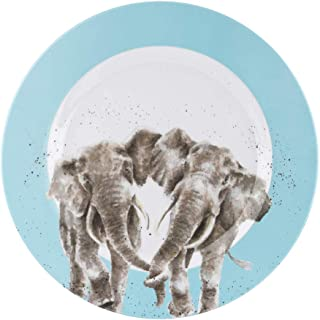 Royal Worcester Wrendale Designs Elephant Melamine 11 Inch Dinner Plates Set of 4