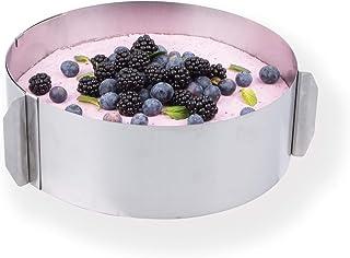 chg 3305-00 Cercle à gâteau gradué Hauteur : 8,5 cm, réglable 16-30 cm