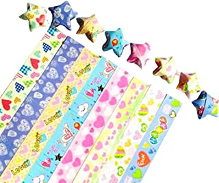 [Love] DIY Origami Paper Stars Origami Stars Strip, 8 Colors 300 Sheets