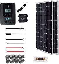 Renogy 200 Watt 12 Volt Off Grid Premium Monocrystalline Solar Panel with 20A MPPT Rover Controller/Mounting Z Brackets Adaptor Kit/Tray Cables Set /MC4 Fuse, 200W-20A