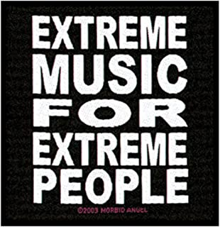 Morbid Angel Patch Extreme Music for Extreme People Logo Woven Sew On Applique