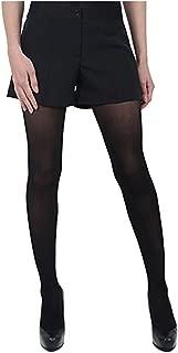 Women's Pocketless Black Tuxedo Shorts with Satin Side Stripe