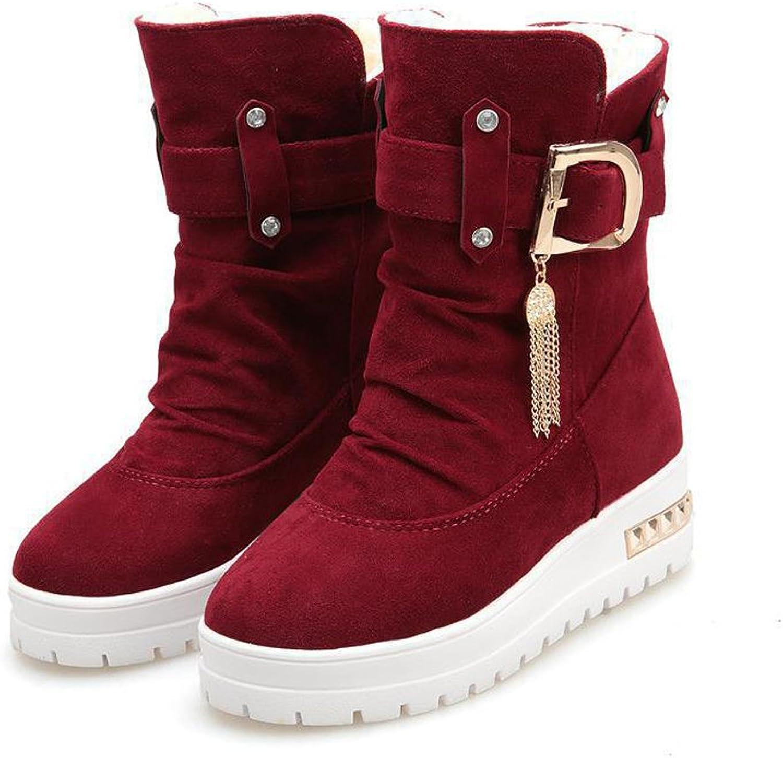 EryRon Women's Winter Velvet Swing shoes Snow Platform Boots Female Thermal Cotton Padded